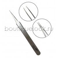 Пинцет прямой, японская сталь silver, тип 2
